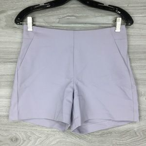 Maurices Lilac Flat Panel Side Zip Shorts